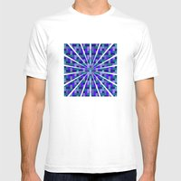 Woven Pixels II Mens Fitted Tee White SMALL