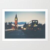 the night bus ...  Art Print