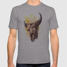 Skull 2 Mens Fitted Tee Athletic Grey SMALL