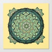 Morris Mandala Canvas Print