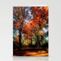 red fall Stationery Cards
