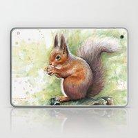 Squirrel Watercolor Painting  Laptop & iPad Skin