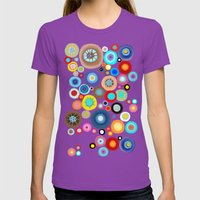 Contemporary Circles Womens Fitted Tee Ultraviolet SMALL