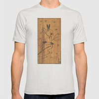 Cute little animal on wood Mens Fitted Tee Silver SMALL