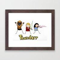 Thundarr the Barbaraian Framed Art Print