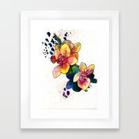 Inky Orchid Framed Art Print