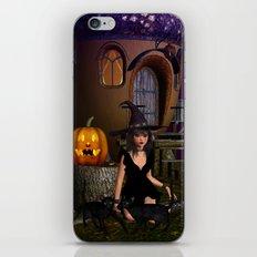 Beautiful Witch Halloween Night iPhone & iPod Skin