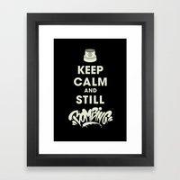 Keep Bombing Framed Art Print