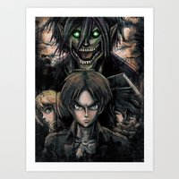 Attack of the Evil Giants Art Print