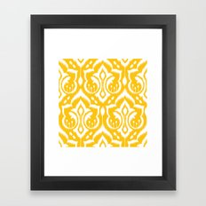 Ikat Damask Framed Art Print