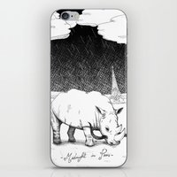 Rhino During Midnight I… iPhone & iPod Skin