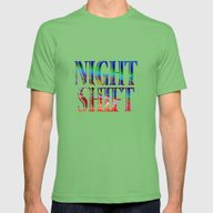 Night Shift Mens Fitted Tee Grass SMALL