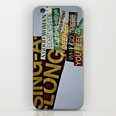 Singalong iPhone & iPod Skin