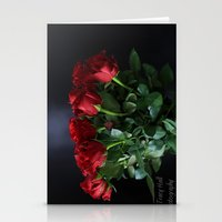 Heavenly Roses Stationery Cards