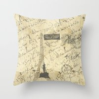 Parisian French Script Throw Pillow