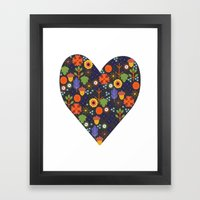 Woodland Heart Framed Art Print