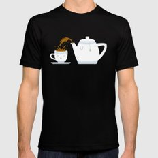 Tea Time! Black Mens Fitted Tee SMALL