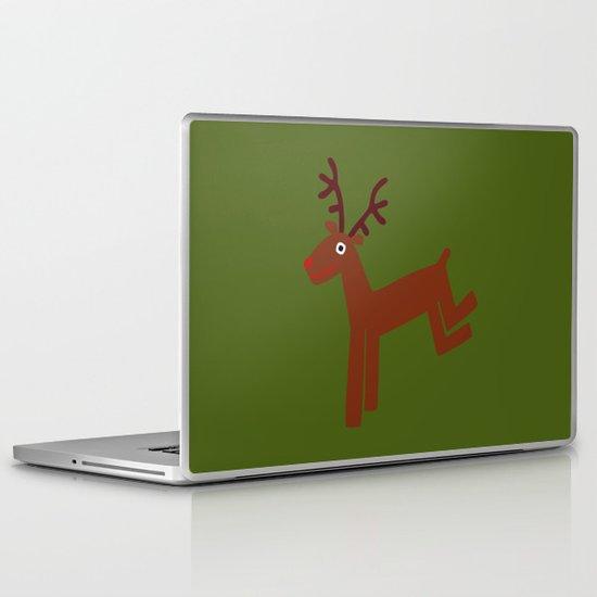 Reindeer-Green Laptop & iPad Skin