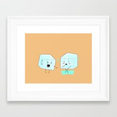 Ice cube problems Framed Art Print