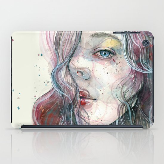 Sleepy violet, watercolor iPad Case