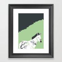 Zebra in the Woods Framed Art Print