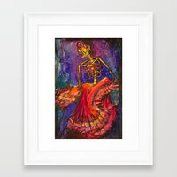 Folklorico Dancer Framed Art Print