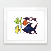Fishy Fishes Framed Art Print
