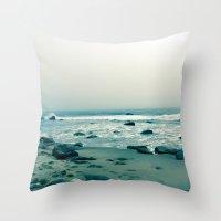 Block Island Beach Throw Pillow