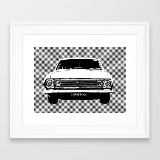 67 HR Framed Art Print