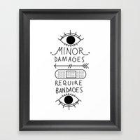 Minor Damages Require Ba… Framed Art Print
