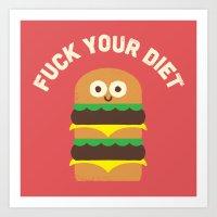 Discounting Calories Art Print