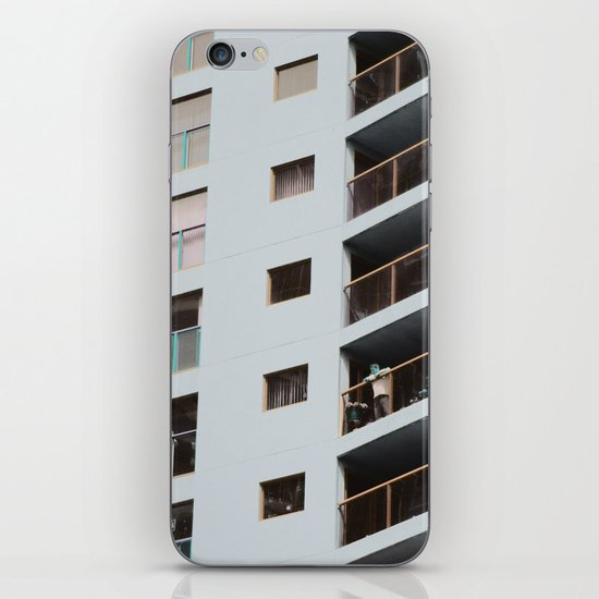 postcard from a tower block... iPhone & iPod Skin