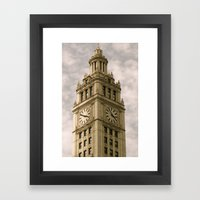 Chicago Clock Tower Framed Art Print