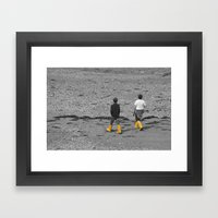 Two boys  Framed Art Print