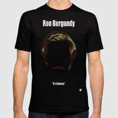 Ron Burgundy: Anchorman Mens Fitted Tee Black SMALL
