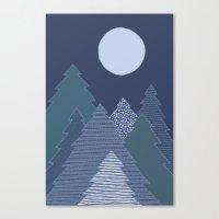 Magic Night Trees Canvas Print