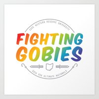 Fighting Gobies Nationals - Rainbow Art Print