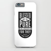 Blessed are the pure in heart iPhone 6 Slim Case