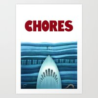 Chores (original version) Art Print