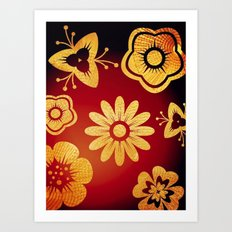 Mi Flor Art Print