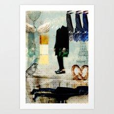 Mr.Suit Art Print