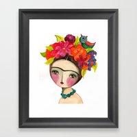 Frida And The Bird In He… Framed Art Print