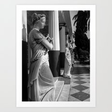 The Nine Muses at The Achilleion Palace Art Print