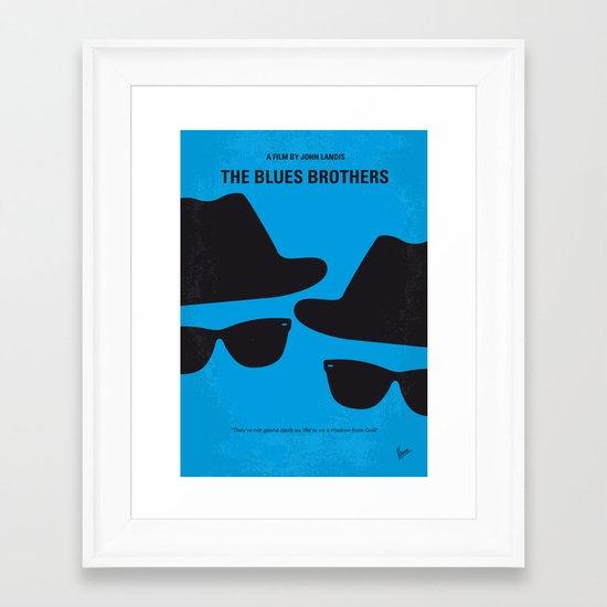 No012 My Blues brothers minimal movie poster Framed Art Print