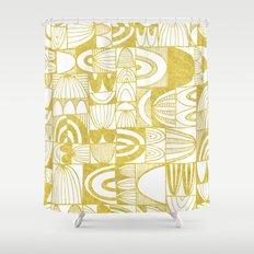 Golden Doodle squares Shower Curtain