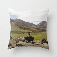 ICELAND I Throw Pillow