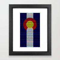 Colorado Flag/Geometric Framed Art Print