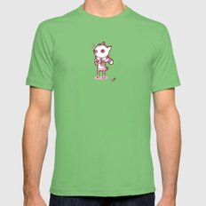 Lemur Chic Mens Fitted Tee Grass SMALL