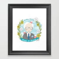 Put A Bernie On It Framed Art Print