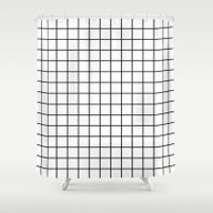 Emmy -- Black And White … Shower Curtain
